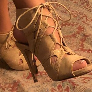 Call It Spring Suede Heels Size 7